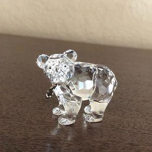 Swarovski Clear Crystal Grizzly Cub Bear